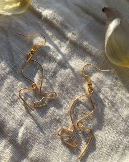 Visage earrings